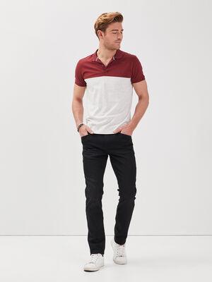 Pantalon slim urbain 5 poches denim noir homme