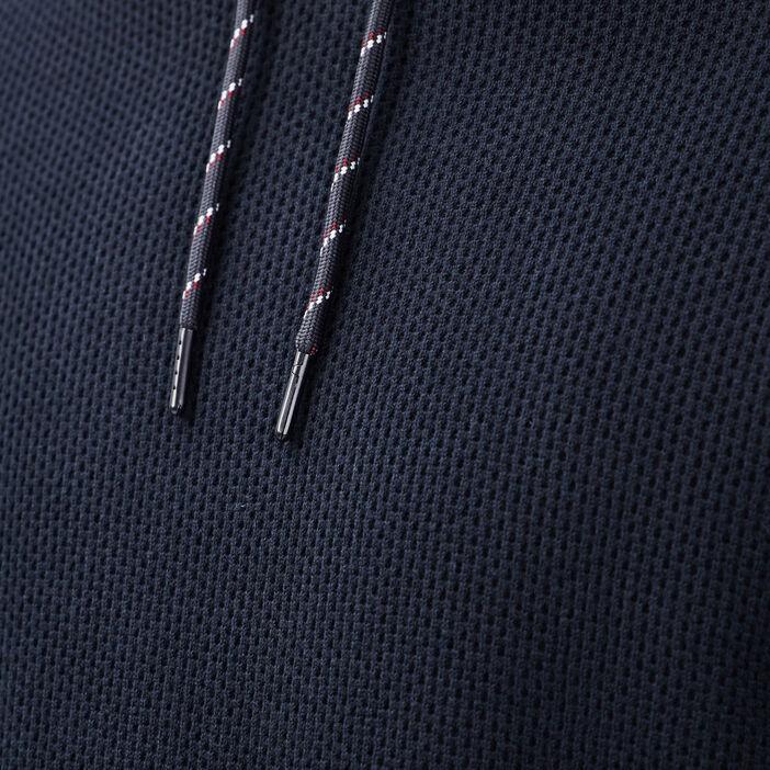 Pull manches longues à capuche bleu marine homme