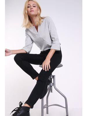Jeans slim taille haute Instinct denim noir femme