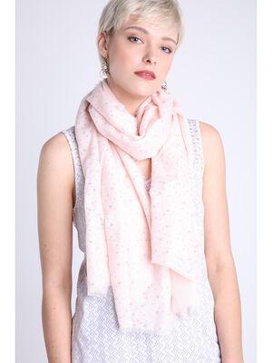 Echarpe rose clair femme