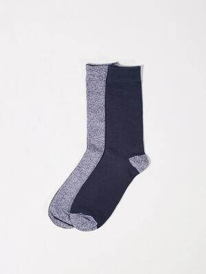 Lot 2 paires chaussettes bleu marine homme