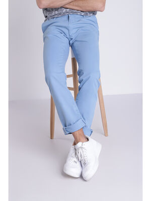 Pantalon Instinct chino ajuste bleu lavande homme