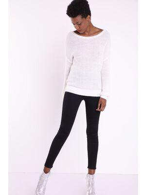 Jegging skinny 2 poches denim noir femme