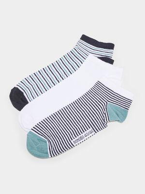 Lot 3 paires de chaussettes bleu canard homme