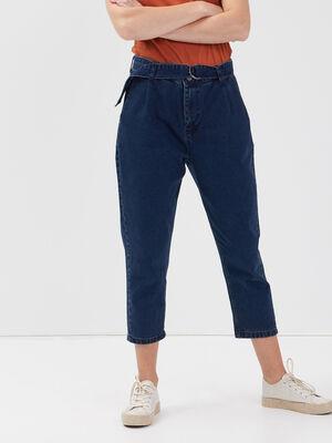Jeans large ceinture 78eme denim brut femme