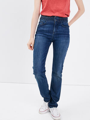 Jeans regular details tresses denim brut femme