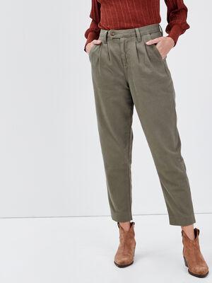 Pantalon slouchy 78eme vert kaki femme