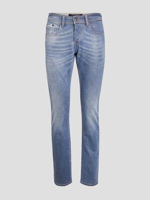 Jeans regular effet used denim used homme