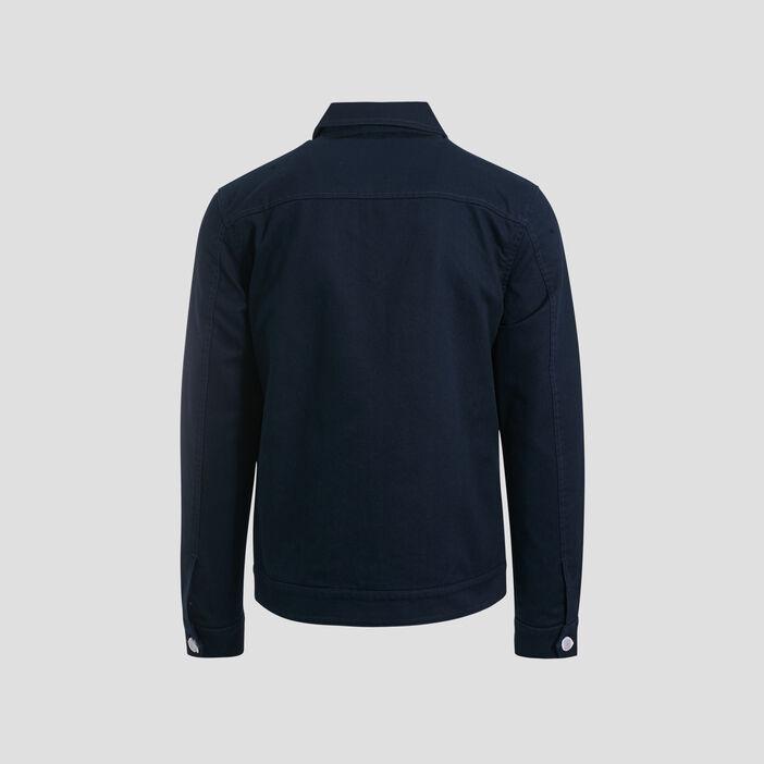 Veste droite zippée bleu marine homme