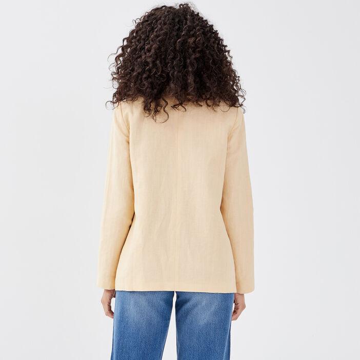 Veste tailleur éco-responsable camel femme
