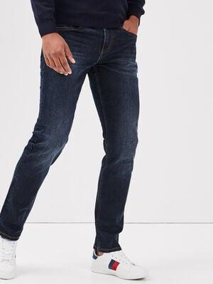 Jeans straight eco responsable denim brut homme