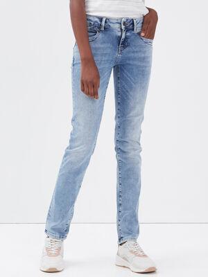 Jeans slim taille basse denim used femme