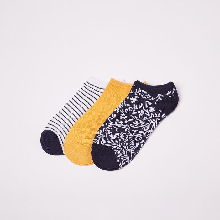Lot 3 paires de chaussettes jaune femme