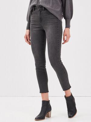 Jeans skinny 78eme denim gris femme