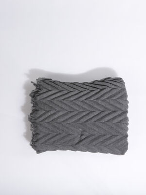 charpe plissee gris femme