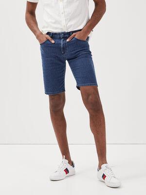 Bermuda droit 5 poches denim stone homme