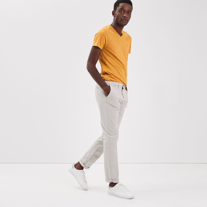 Pantalon straigth Instinct chino gris clair homme