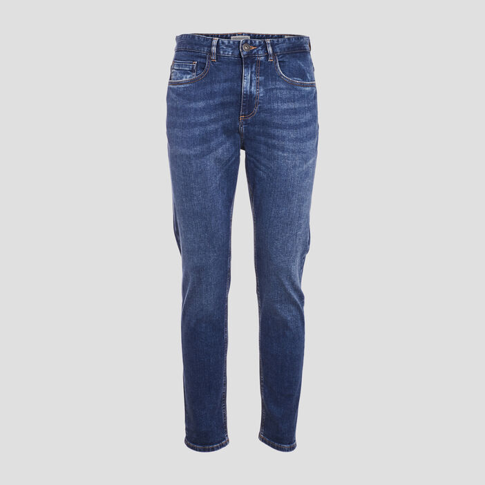Jeans tapered éco-responsable denim stone homme