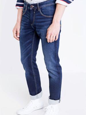 Jeans straight used L32 denim brut homme