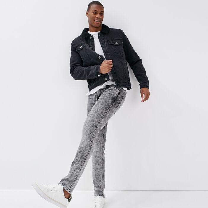 Jeans skinny denim snow gris homme