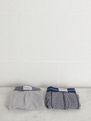 Pack 2 boxers gris homme