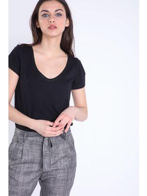 t shirt manches courtes femme instinct noir