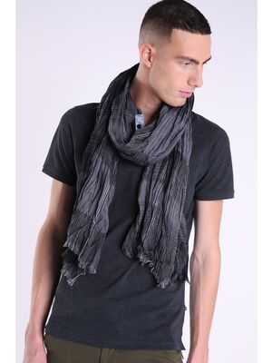 foulard a rayures bicolores homme gris fonce