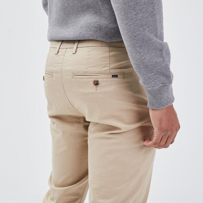 Pantalon éco-responsable beige homme