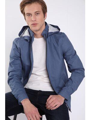 Veste oversize a capuche bleu gris homme