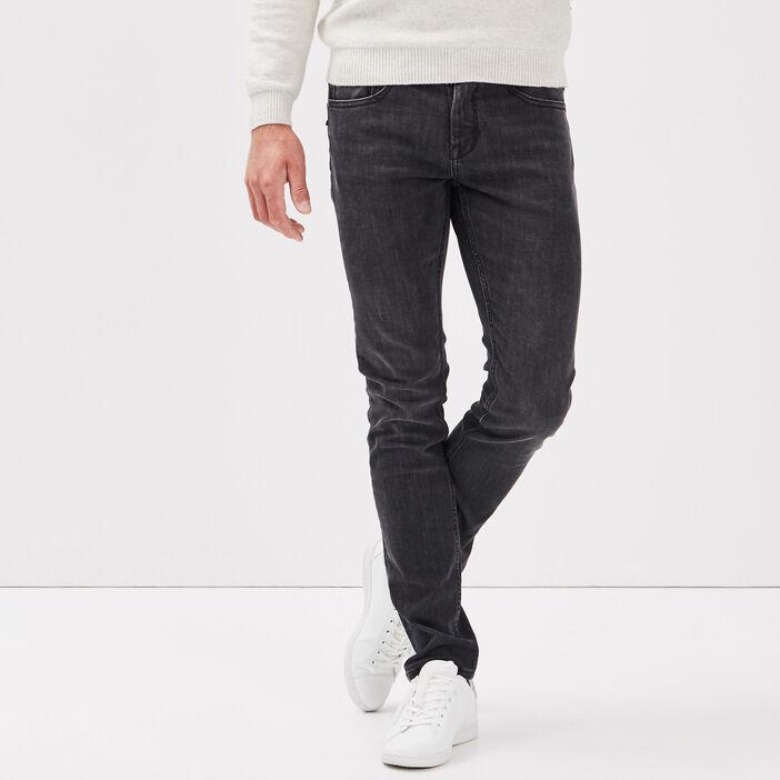 Jeans thermoregulant slim denim noir homme