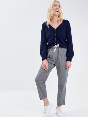 Pantalon droit 78eme denim stone femme
