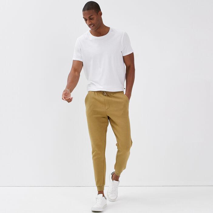 Pantalon jogging beige homme
