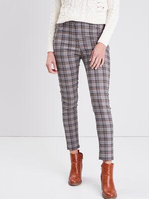 Pantalon skinny taille haute gris fonce femme