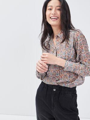 Chemise manches longues multicolore femme