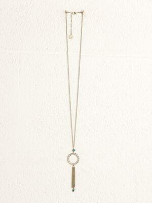 Collier pendentif chainettes couleur or femme