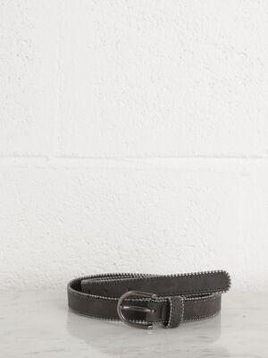 ceinture avec perles noir