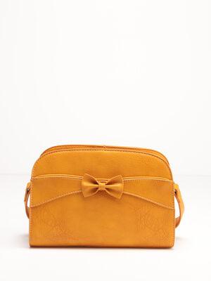 Sac bandouliere avec noeud jaune or femme