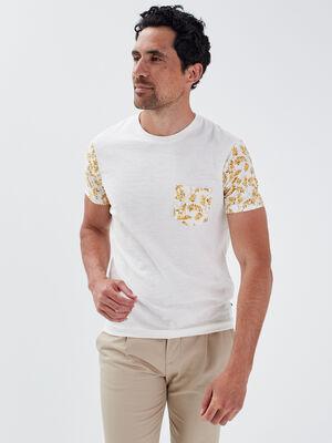 T shirt manches courtes jaune homme