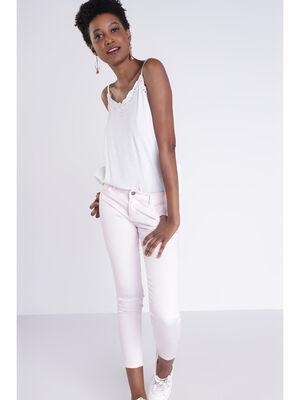 Pantalon skinny rose clair femme
