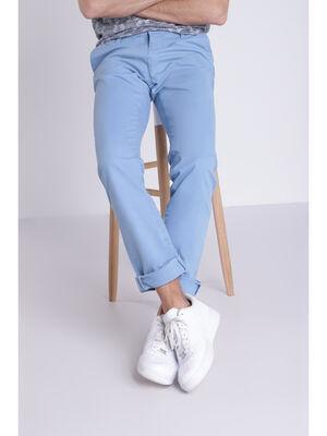 Pantalon straight Instinct chino ajuste bleu lavande homme