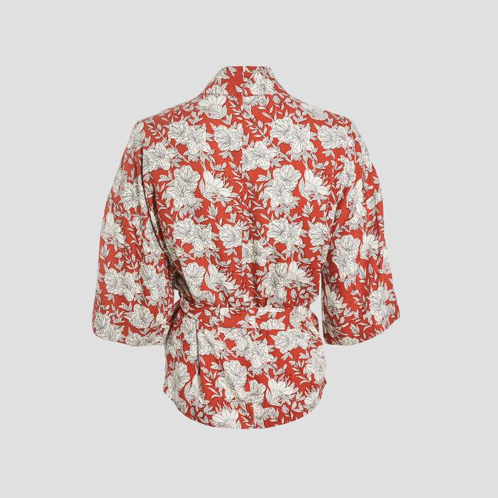 Kimono éco-responsable rouge femme