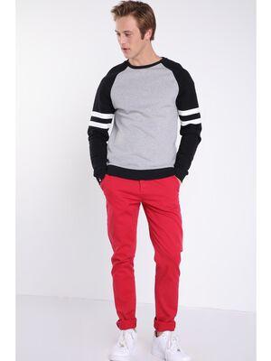 Pantalon slim Instinct rouge homme