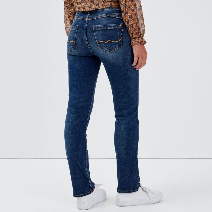 Jeans regular 7/8ème denim stone femme