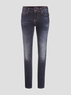 Jeans slim a details studs denim stone femme