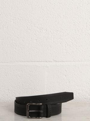 Ceinture matiere embossee noir homme