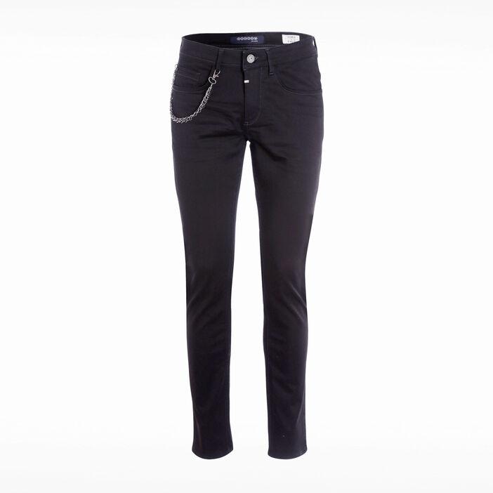 Jeans slim à chaîne denim noir homme