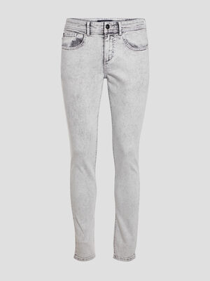 Jeans skinny 5 poches gris fonce homme