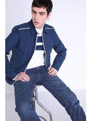 Veste droite col francais bleu homme