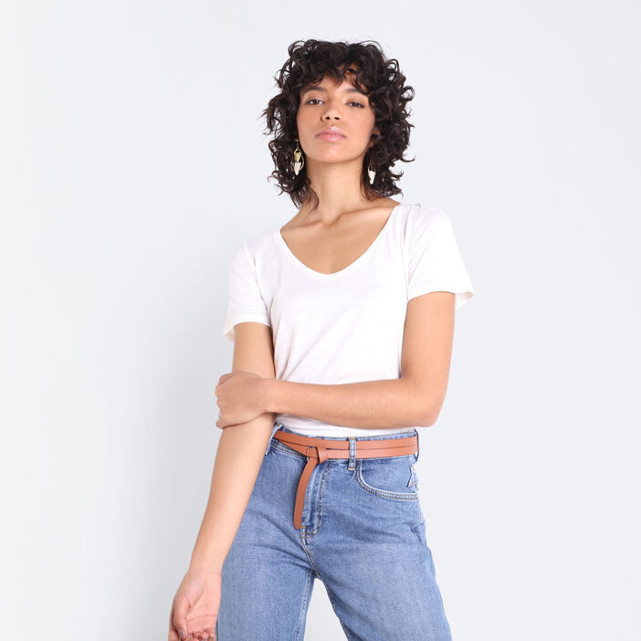 T-shirt manches courtes Instinct blanc femme