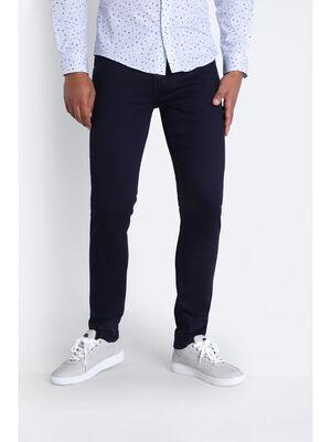Jeans skinny 5 poches denim blue black homme